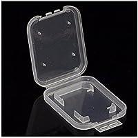 Cajas de tarjeta de memoria grabador 10pcs caja de almacenamiento de cajas de tarjeta de memoria para SD MMC Micro SD tarjetas TF titular de caja de almacenamiento de plástico (color transparente)