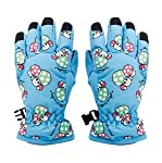 This pair of gloves are made of polyester, non-slip cloth, fleece lined. You can wear this waterproof full finger anti-slip ski gloves in cold winter for cycling, skiing, driving to keep warm, dryfortable. Description: pattern: mushroom highly breath...
