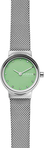 Skagen Damen Analog Quarz Uhr mit Edelstahl Armband SKW2777