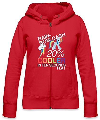 Rainbow Dash 20 % Cooler In Ten Seconds Flat Womens Zipper Hoodie X-Large