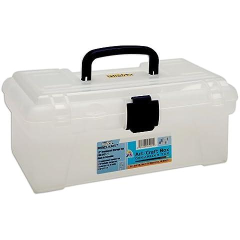 Pro-Art Pro Art Storage Box W/Organizer Top-12-inch x 6-inch x 5-inch Translucent, Other, Multicoloured