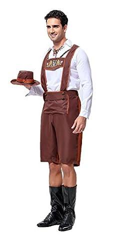 Honeystore Herren Halloween Kostüme Werktätiger Uniform Cosplay Allerheiligen Kleider für (Totoro Kostüm-ideen)