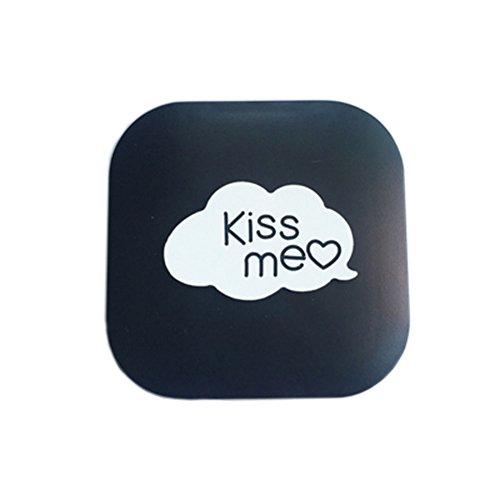 Nettes Karikatur-Muster-kreativer Kontaktlinsenbehälter Speicherhalter für das Objektiv-Sorgen, Kiss Me (6.1x6.1cm) (Kontaktlinsenbehälter Bulk)