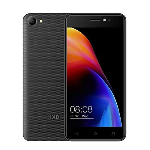 Ken Xin DA W50 2019 Smartphone3G 5.0 Zoll Handy SIM frei Dual-SIM-Karte Android 6.0 MTK 6580 5MP+5MP Kamera 1GB RAM+8GB ROM(Unterstützt bis zu 128 GB) 2100mAh Entriegelt (Schwarz)