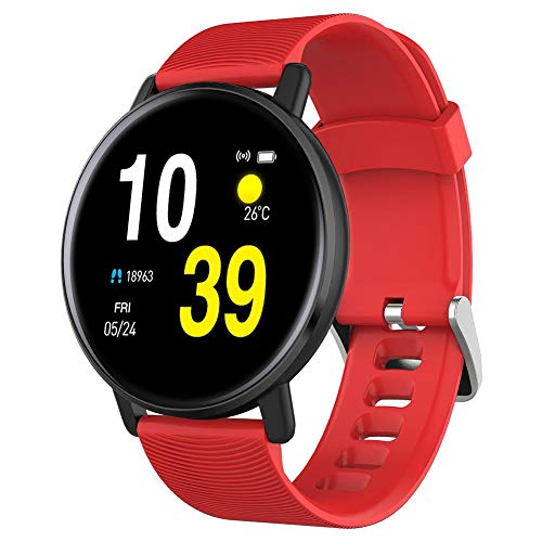 PIONIN Fitness-Tracker H5 1,3-Zoll-Touchscreen-Smart-Armband Herzfrequenz-Blutdruck-Schlaf-Erkennung Sport-Schritt-Monitor IP67 wasserdichte Sportuhr Aktivitäts-Tracker