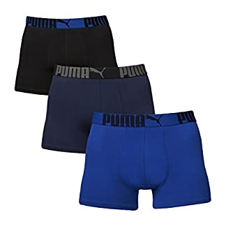 PUMA – Pack de 3 Calzoncillos bóxer para Hombre (con Logo y Nombre de la Marca)