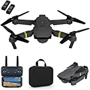 Drone with Camera 720P HD Wifi FPV, Drone with Wide Angle Camera, RC Quadrocopter Headless One-Key Takeoff And