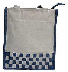Abi Womens Handicraft Lunch Bag/ Tiffin Bag/ Carry Bag/ Jute Bag/ Handbag (Pack Of_2_Multi Color)