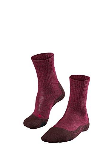FALKE TK2 Wool Damen Trekkingsocken / Wandersocken - rot, Gr. 39-40, 1 Paar, Merinowolle, mittelstarke Polsterung, wärmende Wirkung (Beste Frauen-schnee-stiefel)