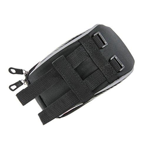 FakeFace Oxford Gewebe Lenkertasche mit Durchsichtigem PVC Fenster Radtasche zur Befestigung am Lenker für Handy bis 5,5 Zoll 18 x 10 x 7 CM (Rot) Rot