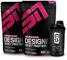 ESN Designer Whey, 2 x 1kg Beutel in allen Geschmacksrichtungen + Gratis ESN Shaker