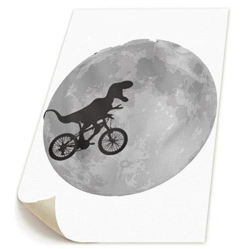 SDGYGSNi Rex Fahrrad-Mond Dinosaurier Leinwanddrucke, abstrakte Pop-Art, lustig, -