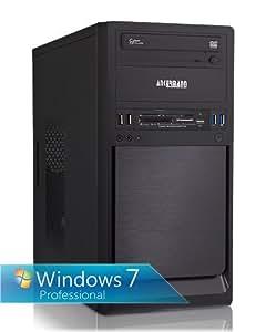 Ankermann Business PC, Win7 Professional 64Bit, AMD 2x 4,0GHz, Grafik ATI Radeon HD8470D 1024MB, HDMI, DVI, VGA, 8GB RAM, 500GB HDD, Cardreader, DVD Brenner, USB 3