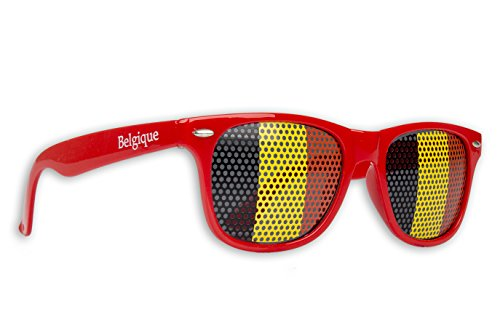 10 x - Fanbrille - Sonnenbrille - Belgien - Brille - Rot - Schwarz Gelb Rot - Belgium - Belgique - België - Fan Artikel