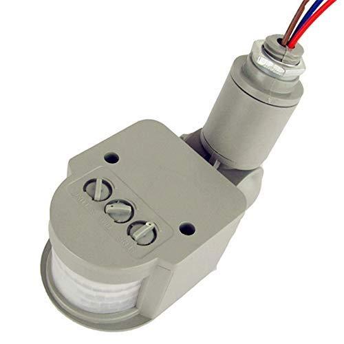 12v Ac Motion Sensor (Coogel 1PCS/Lot New Motion Sensor Light Switch Outdoor AC 220V Automatic Infrared PIR Motion Sensor Switch for LED Light - (Color: 12V Black))
