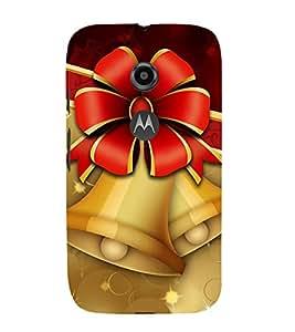 99Sublimation Happiness Bell 3D Hard Polycarbonate Back Case Cover for Motorola Moto E2 :: E Dual SIM 2nd gen :: 3G XT1506 :: 4G XT1521