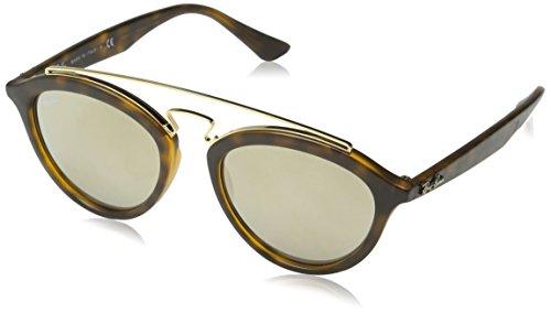 RAYBAN Unisex Sonnenbrille Mod. 4257, Mehrfarbig (Gestell: Havana, Gläser: Hellbraun verspiegelt Gold 60925A), Medium (Herstellergröße: 50)