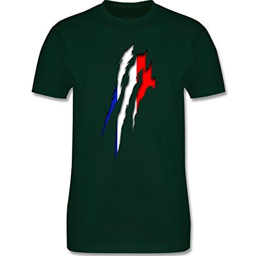Länder - Frankreich Krallenspuren - Herren Premium T-Shirt Dunkelgrün