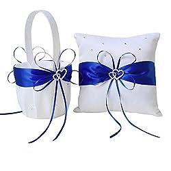 Juego 2 piezas cojín de alianzas y cesta en color azul