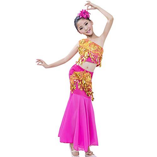 Gtagain Tanzsport Bekleidung Mädchen Röcke Fischschwanzrock - Belly Moderner Dance Costumes Tanzkostüme Fasching Kostüme Darbietungen ()