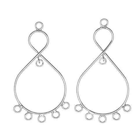 Sterling Silver Teardrop Chandelier Earrings Findings