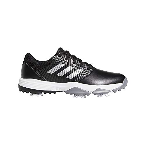 adidas Junior CP Traxion Scarpe da Golf Juniors Nero/Argento/Bianco UK 5.5 Regular Fit