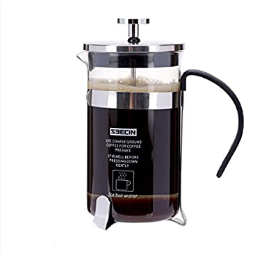 PowerLead Coffee Maker French press Cafetiere - 0.35 L(Silver) from PowerLead