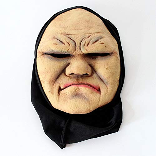 POIUYT Adult Horror Grimasse Haube Maske Funny Scary Teufel Zombie Horror Ekelhaft Kostüm Requisiten Halloween Ghost Festival/Lustige Party Perücke,A11