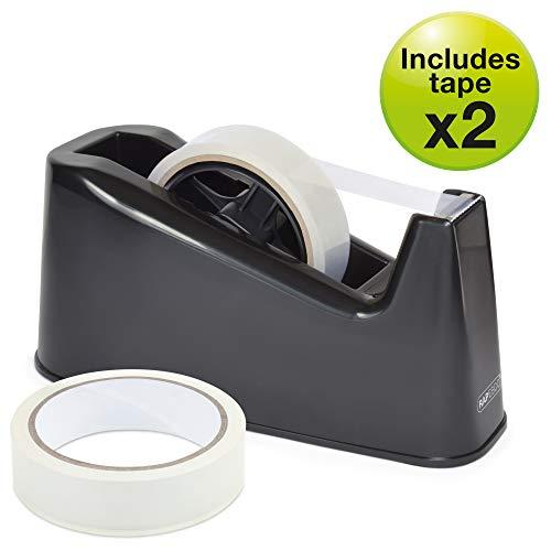 Rapesco Accesorios - Dispensador de cinta adhesiva grande mas 2 rollos, color...