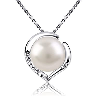 B.Catcher Silver Necklace for Women Jewellery 925 Sterling Silver Freshwater Pearl Nekclaces
