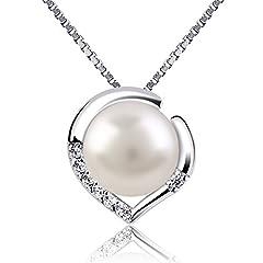 Idea Regalo - B.Catcher collana in argento per donna gioielli in argento 925 e perla d'acqua dolce collane
