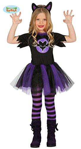 Vampir Kostüm Kinder Kleinkind Mädchen (KINDERKOSTÜM - FLEDERMAUS - Größe 110-115 cm ( 5-6 Jahre ), Kleinkinder Monster Bat Flugtiere)