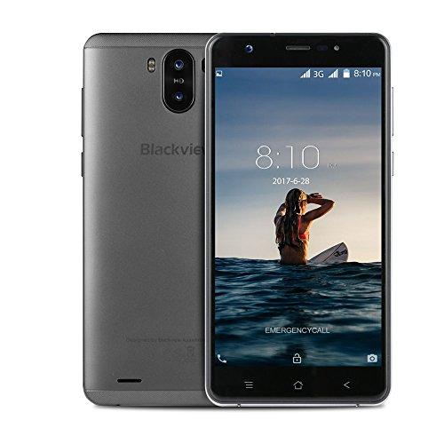 Smartphone ohne Vertrag, Blackview R6 Lite 3G Dual SIM Smartphone mit 5,5 Zoll QHD IPS Display – Android 7.0 Handy – MTK6580 Quad Core 1.3GHz – 3000mAh Großer Akku – 2MP + 8MP Kamera – 16GB ROM – Grau