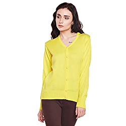 Women Yellow Cardigan