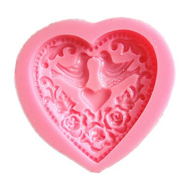 FPP cuore uccello amore muffe della torta muffa del cioccolato per la cottura della cucina di stampo argilla strumento decorazione sugarcraft