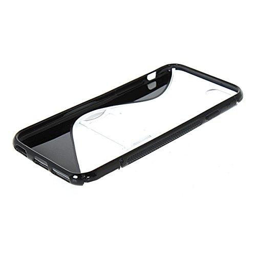 MOONCASE TPU Silicone Housse Coque Etui Gel Case Cover Pour Apple iPhone 6 (4.7 inch) Gris Noir
