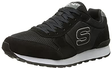 Skechers Originals Men's Retros OG 85 Fashion Sneaker, Black/White, 8.5 M US