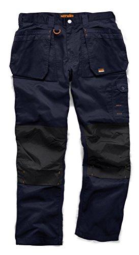 Scruffs Plus Pantaloni da Lavoro, da Uomo, Uomo, Pantaloni, Worker Plus, Navy, S