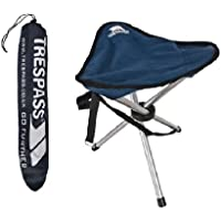 Trespass Strong Quality Camping Fishing Folding Tripod stool with carrying Bag