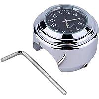 Impermeable Moto Moto Soporte para manillar Reloj de esfera redonda Accesorio Reloj universal para montaje en manillar