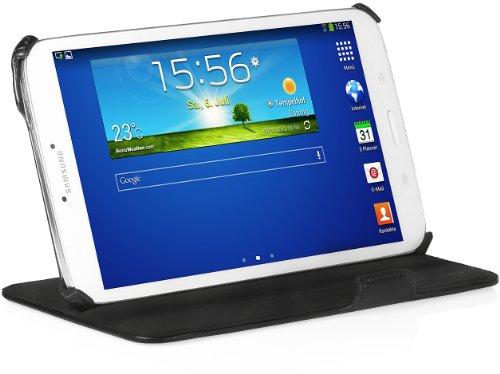 StilGut® UltraSlim Case V2, Tasche mit Stand- und Präsentationsfunktion für Samsung Galaxy Tab 3 8.0, schwarz