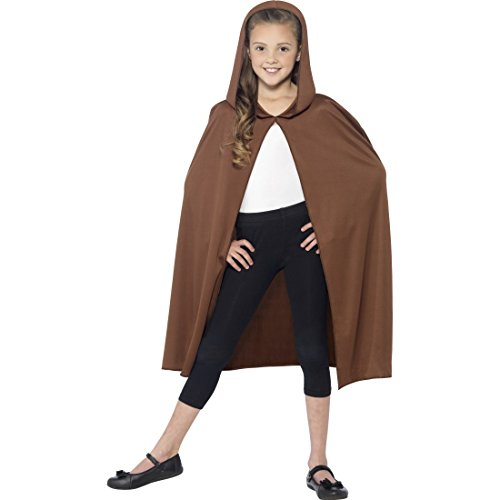 Kinder Cape Jedi Umhang braun Star Wars Mantel Mittelalter Umhangmantel Halloween Umhangmantel Dracula Mottoparty Accessoire Karnevalskostüme Jungen - 2