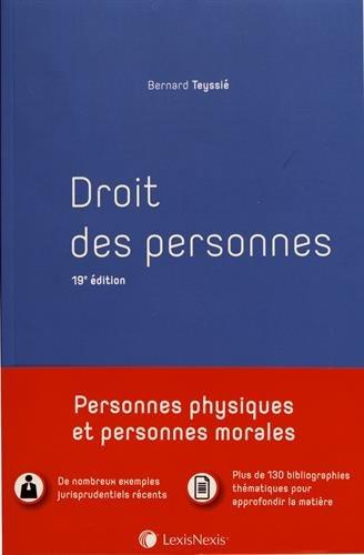 Droit des personnes: Personnes physiques et personnes morales