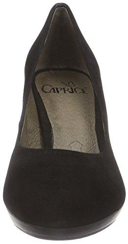 Caprice - 22412, Scarpe col tacco Donna Nero (Schwarz (BLACK SUEDE 004))