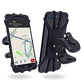 Fahrrad Handyhalterung , Universal Fahrrader/ Motorrad Kinderwagen Handyhalter mit Silikonband, rutschfest Design Halterung, 360° Drehbare Handyhalter für iphone 8 plus/7 plus/6s plus/8/7/6s, Samsung Galaxy S9+/S9/S8,  und 4,7-6,3 Zoll Smartphones---MapleChief