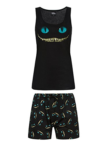 Walt Disney Alice in Wonderland - Smile Pigiama nero S