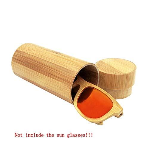 HQWLCIYD Astuccio per occhiali Astuccio per donna Uomo 1 pezzo Astuccio per occhiali da sole rotondo originale in legno Occhiali da sole per occh
