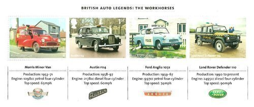 41rF0AGTGRL BEST BUY #12013 British Auto Legends: The Workhorse Miniature Sheet No. 99   Royal Mail Stamps price Reviews uk