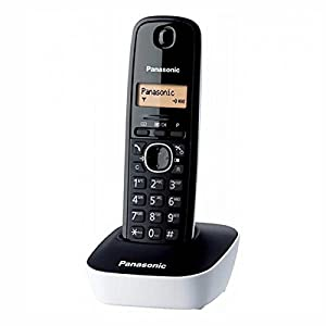 telefonos: Panasonic KX-TG1611SPW - Teléfono inalambrico fijo digital, negro/blanco