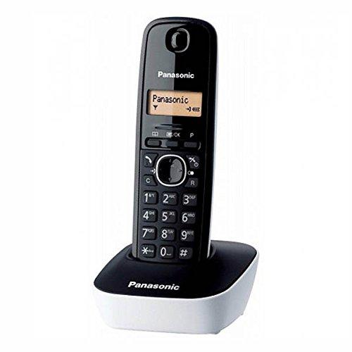 Panasonic KX-TG1611SPW - Teléfono inalambrico fijo digital, negro/blanco